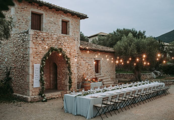 Lefkada winery wedding
